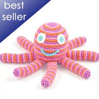 pink octopus rattle tttt